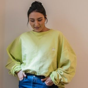 Lime Champion Sweatshirt [L/XL]